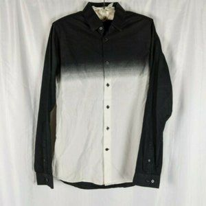 Ombre Long Sleeve Extra Slim Fit Button Down Shirt
